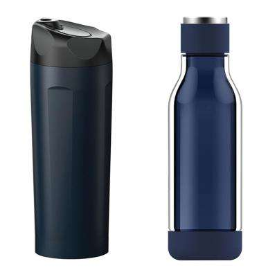 2-Piece 14 oz. Travel Tumbler and 17 oz. Inner Peace Glass Water Bottle