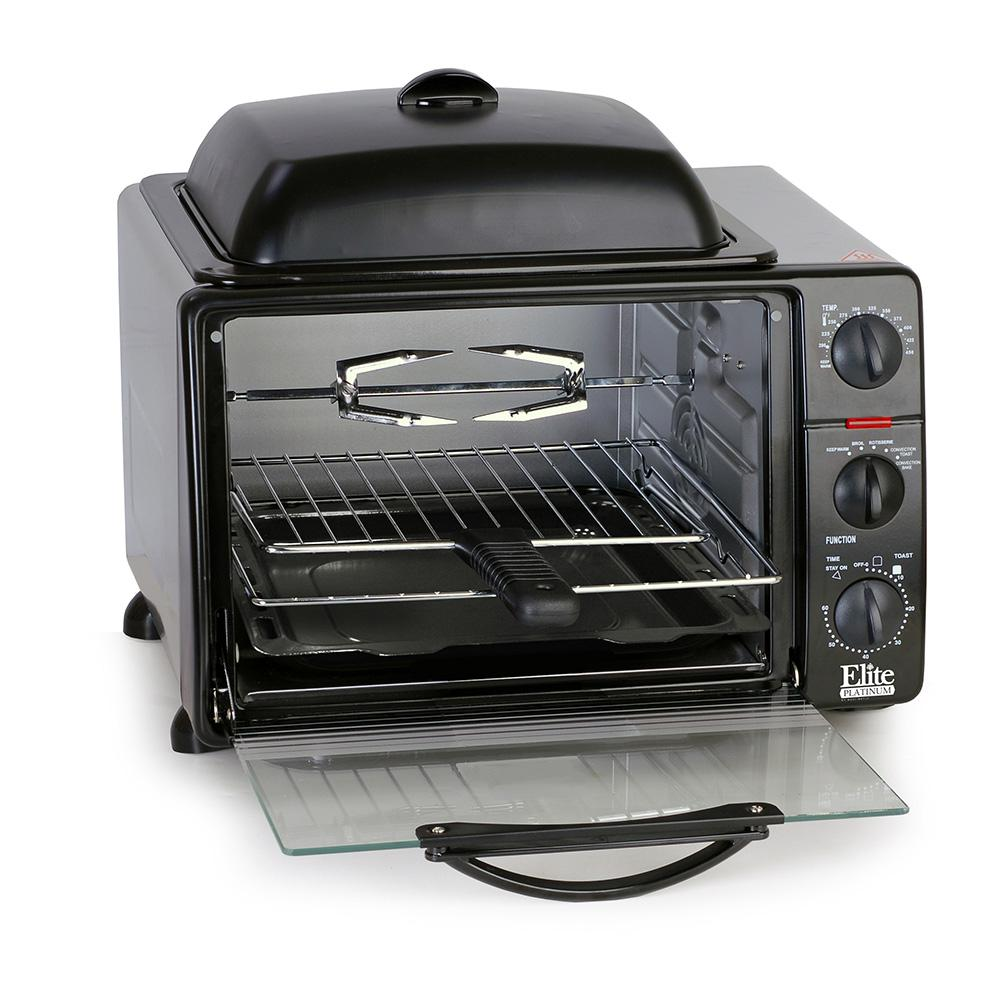 Platinum Black Griddle Top Toaster Oven