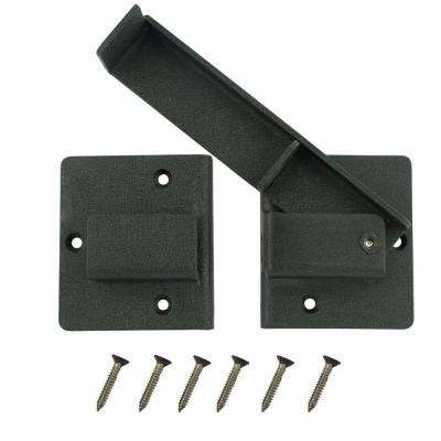 Black Extra Heavy Duty Gate Flip Latch