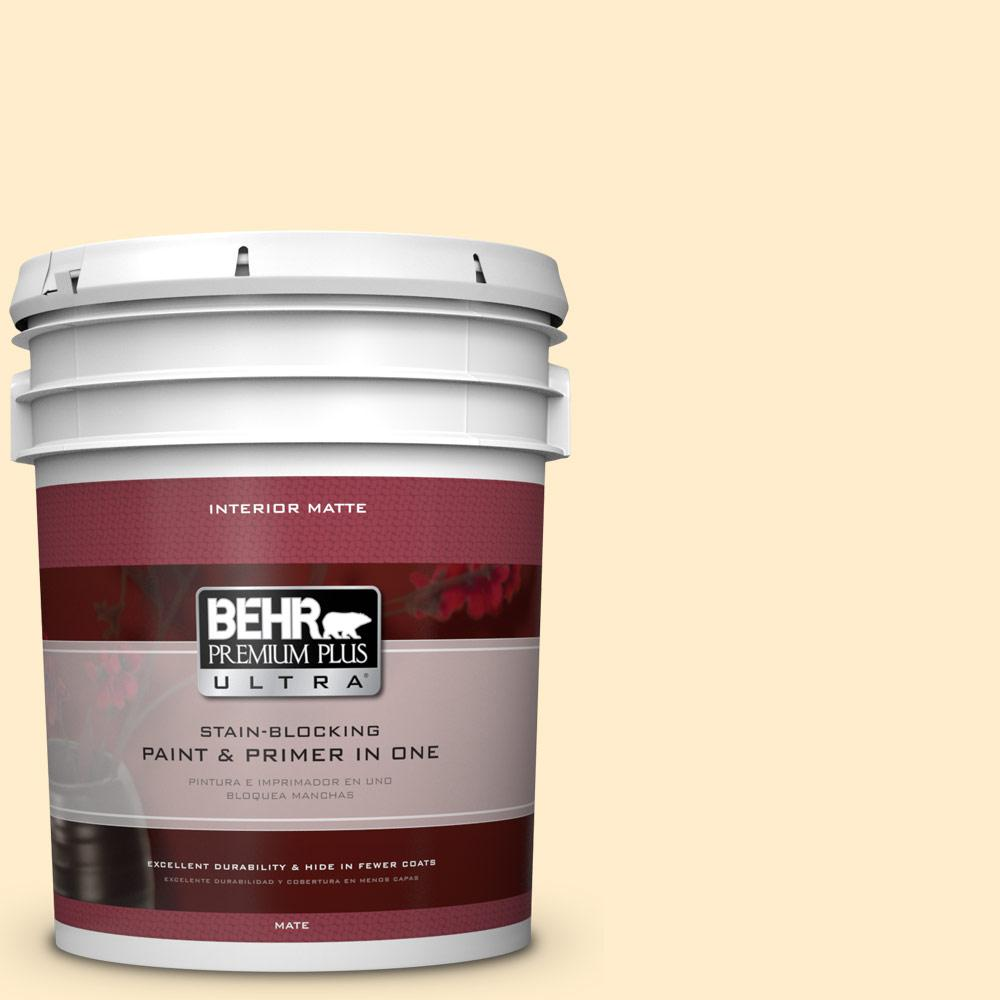 5 gal. #320A-2 Provence Creme Flat/Matte Interior Paint