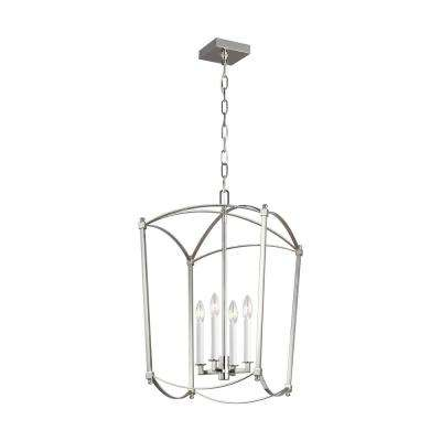 Thayer 4-Light Polished Nickel Chandelier