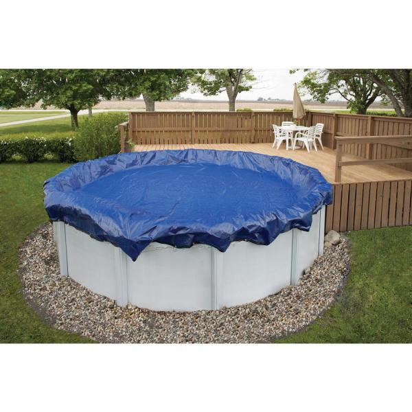 Blue Wave 15-Year 12 ft. Round Royal Blue Above Ground Winter Pool Cover
