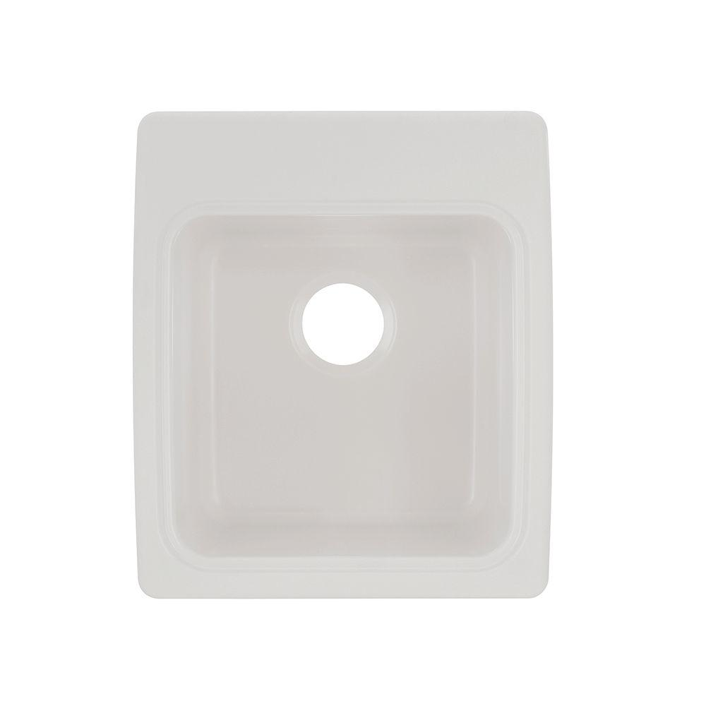 17.3 in. x 20 in. x 10.5 in. Solid Surface Undermount