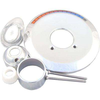 Single-Handle Tub and Shower Trim Kit for Valley Faucets in Chrome Finish (Valve Not Included)