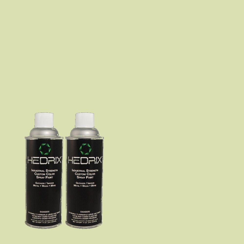 Hedrix 11 oz. Match of 1453 French Mint Flat Custom Spray Paint (2-Pack)