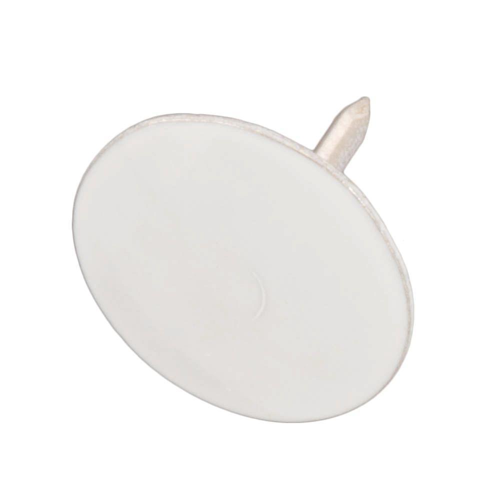 Steel White Flat-Head Thumb Tacks (200-Pack)