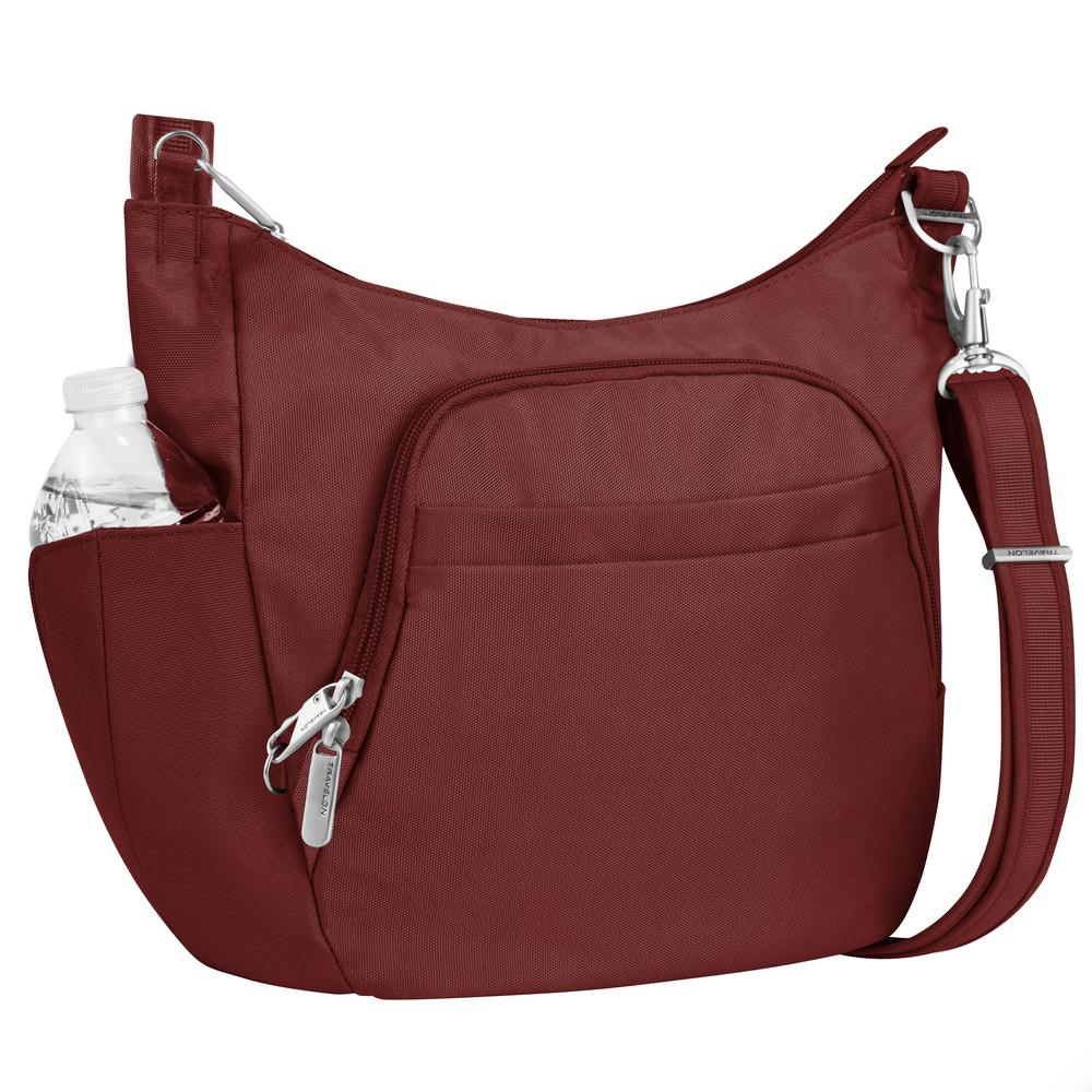 0f41b89955 Travelon Anti-Theft Wine Poly Crossbody Bucket Tote Bag-42757-230 - The  Home Depot