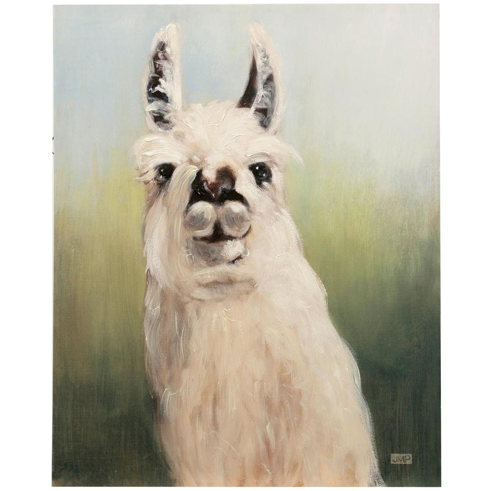 StyleCraft Hand-Painted Llama Headshot Multicolored Canvas Wall Art was $145.99 now $57.52 (61.0% off)