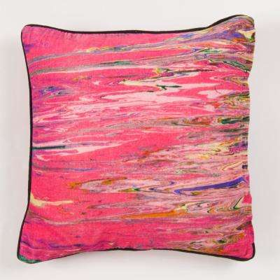 New York Gallery Art by Any Abstract Pink Pillow