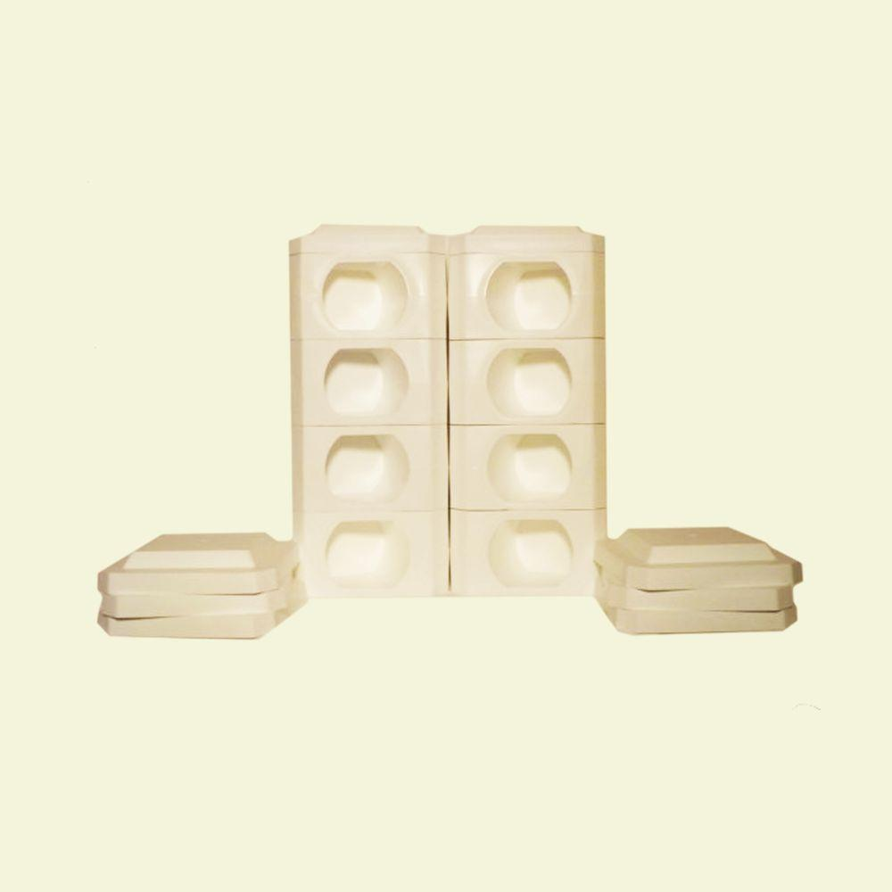 Border Blocks 8 Point Octagon 1 Landscaping Timber High White Blocks and Covers (16 peices)