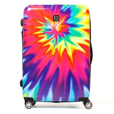 Tie-dye Swirl 28 in. Upright Tie-dye Expandable Spinner Rolling Luggage Suitcase ABS Hard Case
