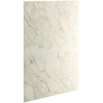 Choreograph 0.3125 in. x 60 in. x 96 in. 1-Piece Shower Wall Panel in CrossCut Biscuit for 96 in. Showers