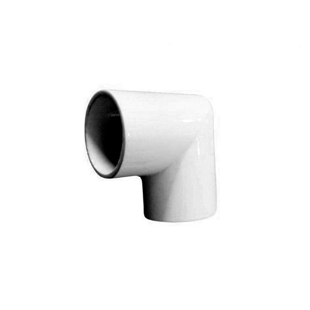 EZ Handrail 1.9 in. Aluminum Round ADA Handrail White 90 Degree Miter Elbow