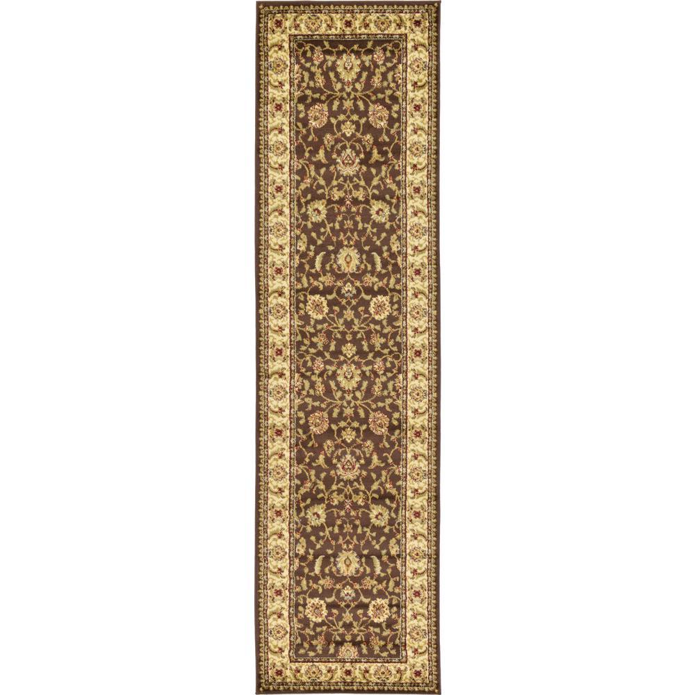 Agra Brown 2 ft. 7 in. x 10 ft. Runner Rug