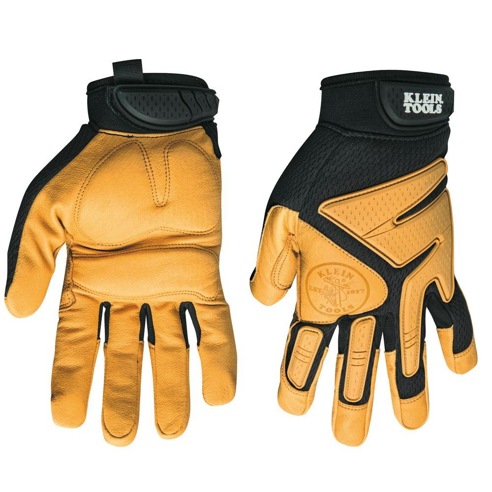 Klein Tools Large Journeyman Leather Gloves 40221 The