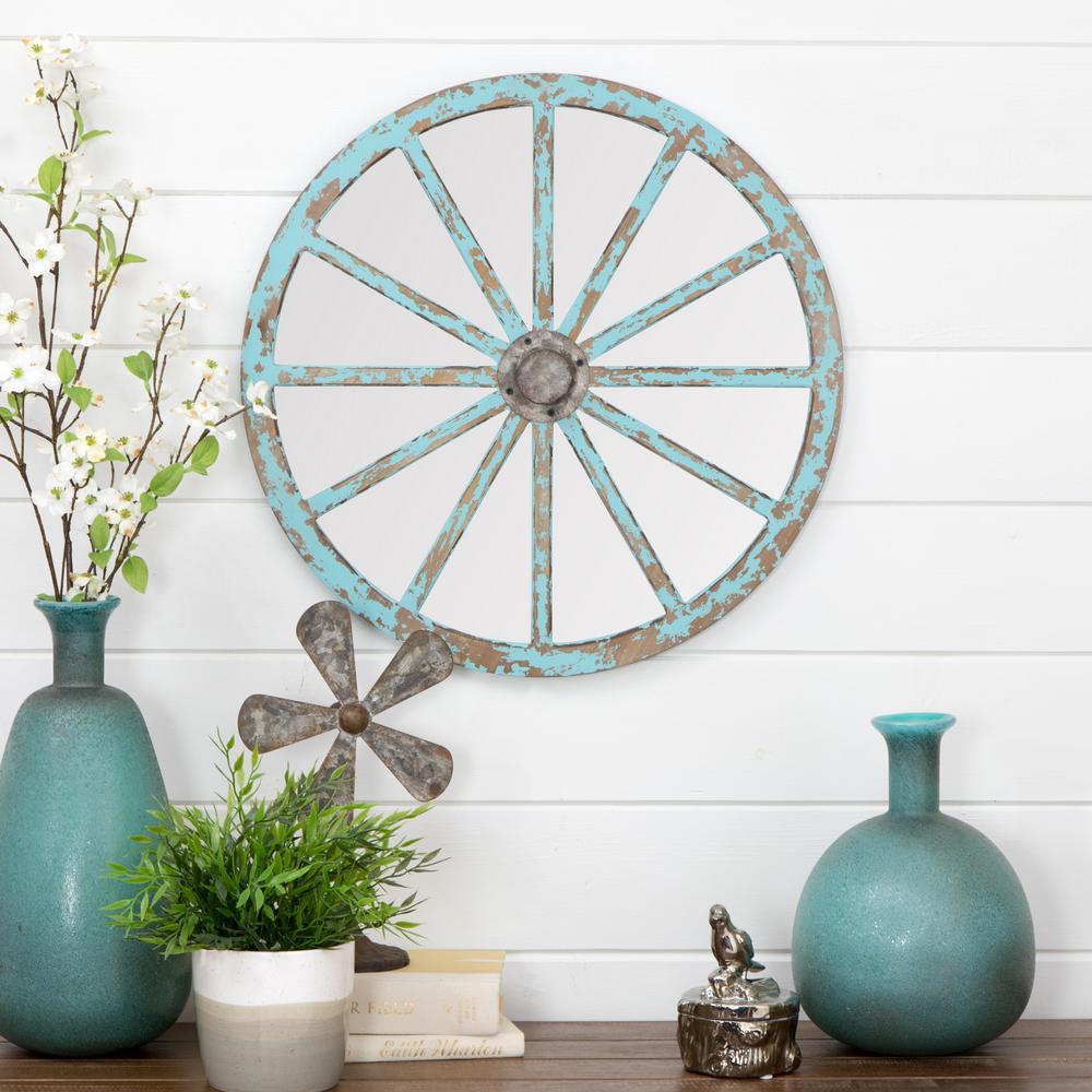 Delma Carriage Wheel Wall Mirror