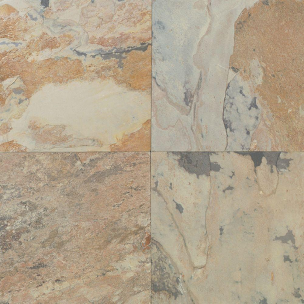 Daltile Natural Stone CollectionAutumn Mist 12 in. x 12 in. Slate ...