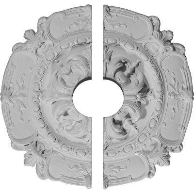 16-1/2 in. O.D. x 3-1/2 in. I.D. x 2-3/8 in. P Southampton Ceiling Medallion (2-Piece)