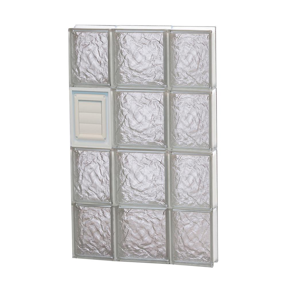 Clearly secure in x 31 in x in ice pattern for Pre assembled glass block windows