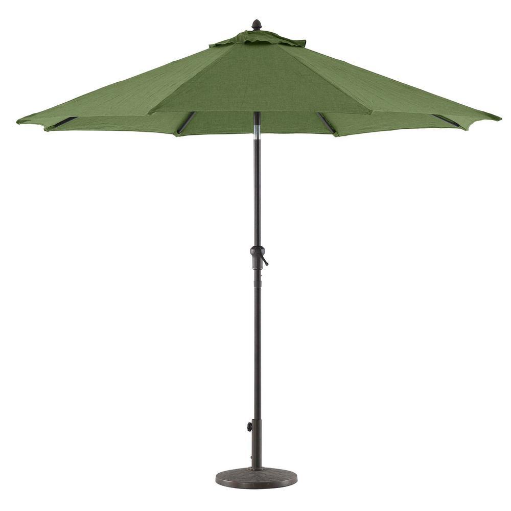 Royal Garden 9 ft. Aluminum Market Crank and Tilt Patio Umbrella in Green