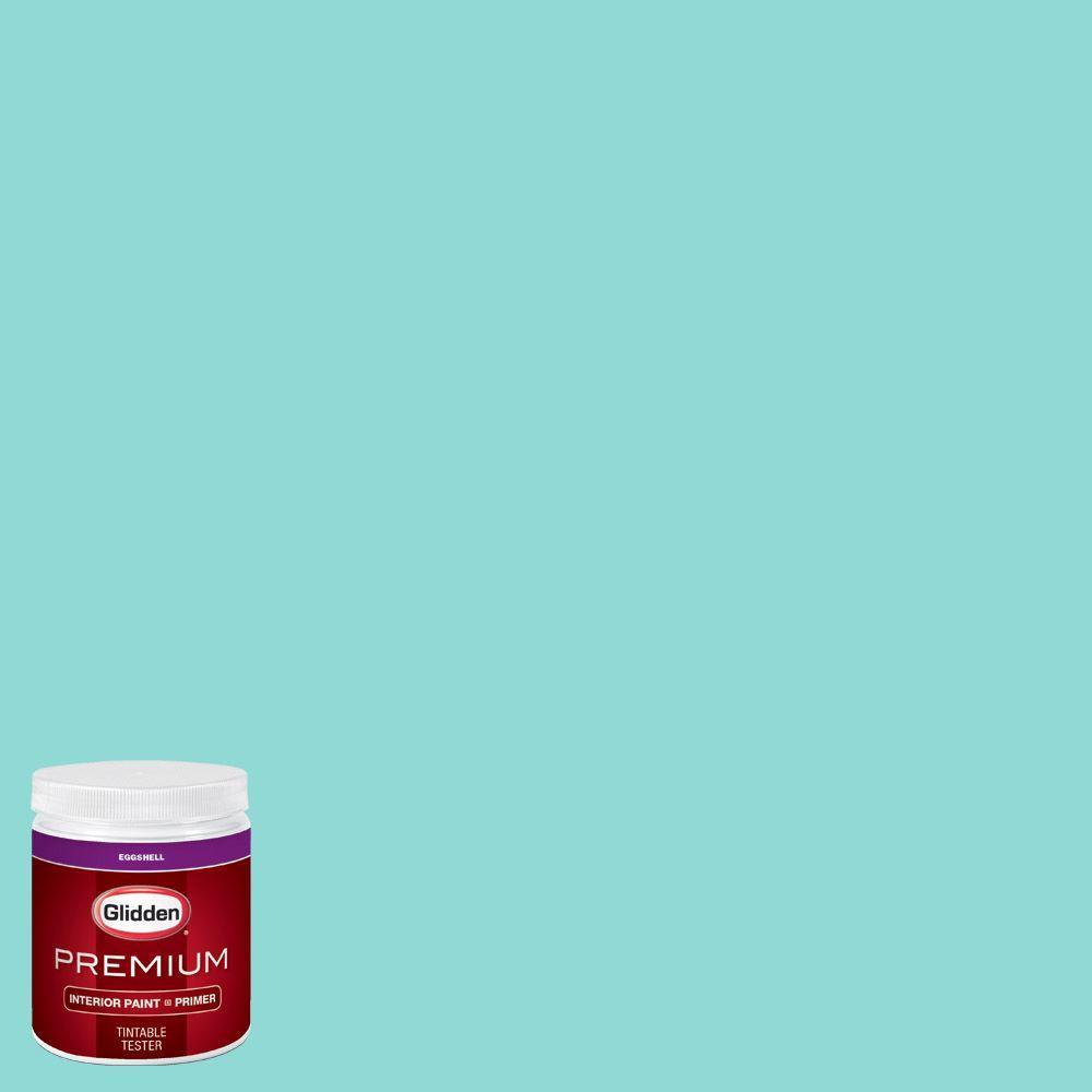 Top 10 Aqua Paint Colors For Your Home: Glidden Premium 8 Oz. #HDGB15 Echo Lake Aqua Eggshell