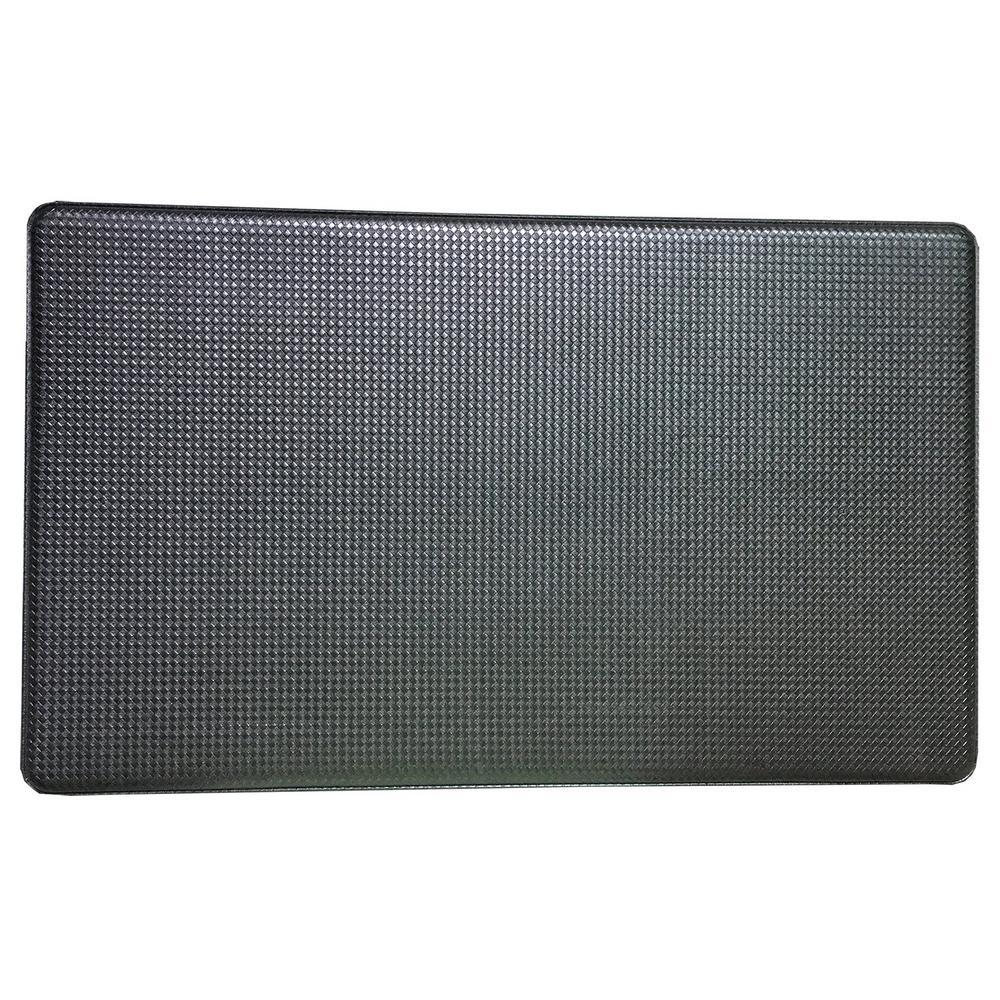 Art3d Premium Reversible Memory Foam Black 18 in x 30 in