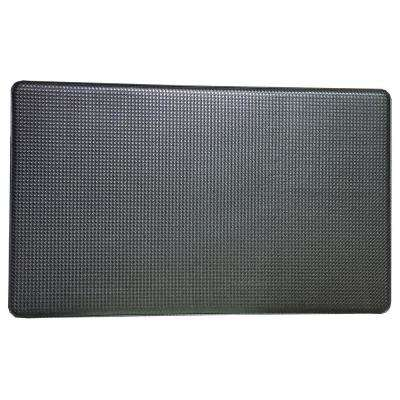 Premium Reversible Memory Foam Black 18 in. x 30 in. Anti-Fatigue Kitchen Mat