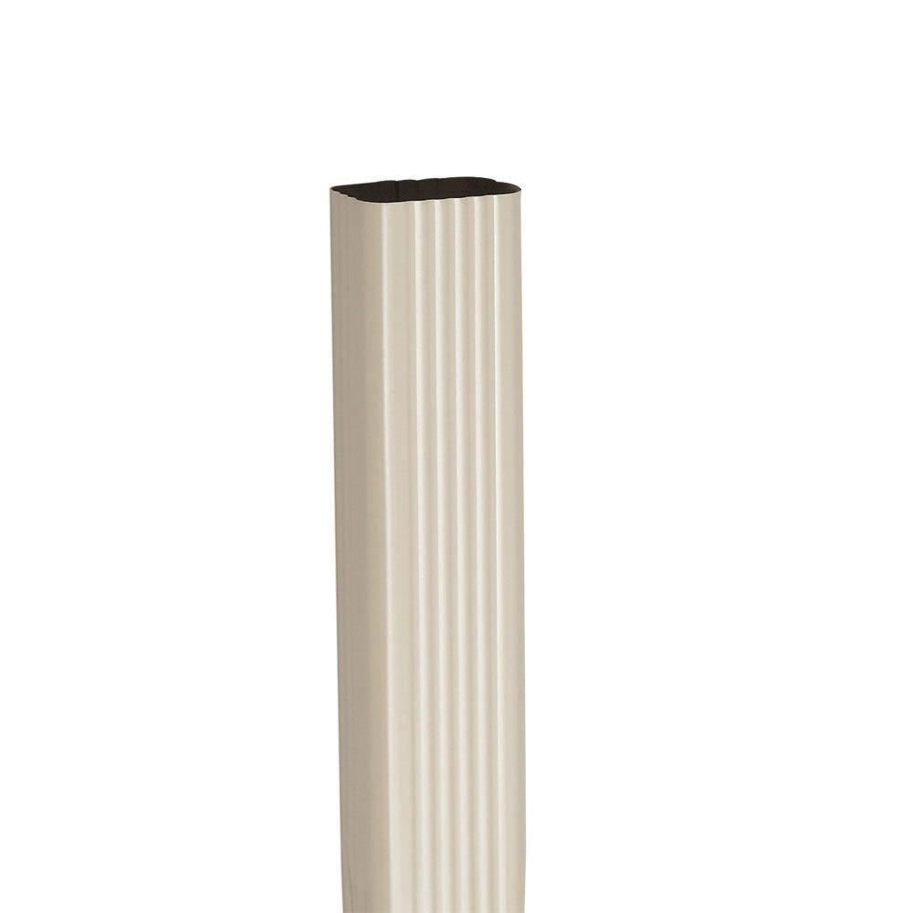 2 in. x 3 in. Pebblestone Clay Aluminum Downspout