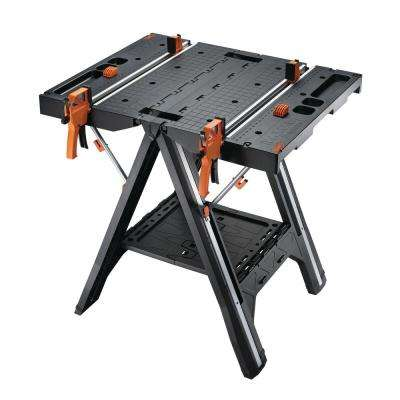 Pegasus Multi-Function Work Table and Sawhorse with Quick Clamps and Holding Pegs