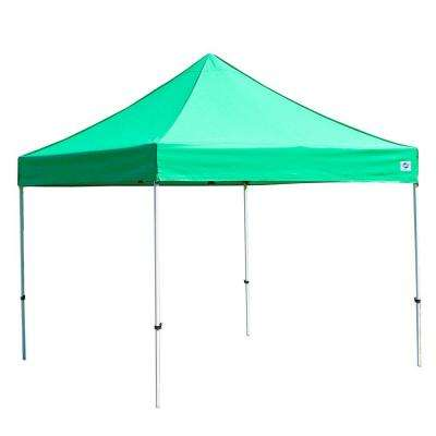 Festival 10 ft  W x 10 ft  D Instant Canopy in Green