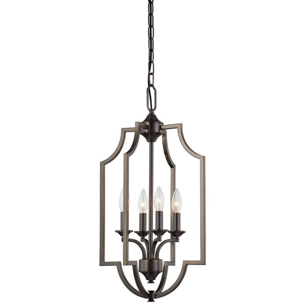 Thomas Lighting Chiave 4-Light Hanging Oiled Bronze Chandelier-DISCONTINUED