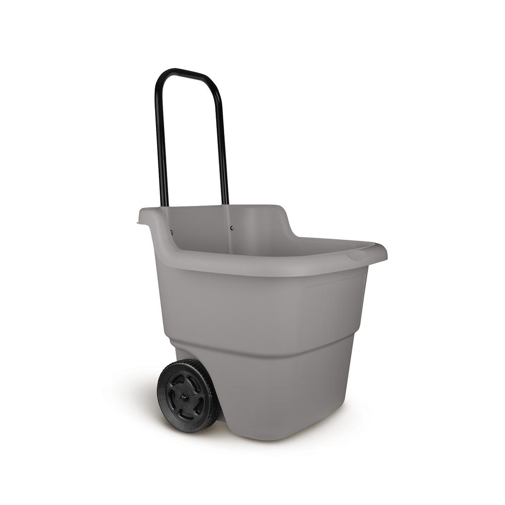 Suncast 15 Gal. Portable Resin Gray Lawn Cart
