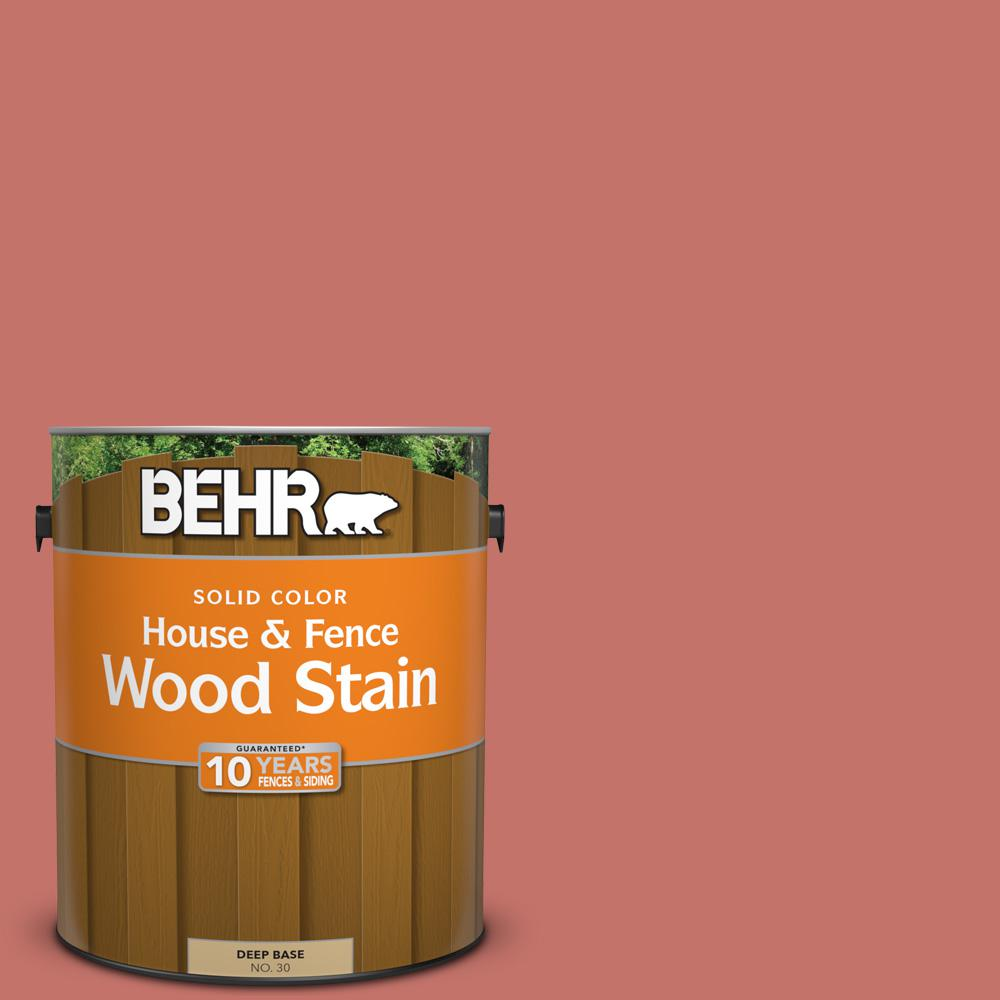 BEHR 1 gal. #PPU1-5A Red Coral Solid Color House and Fence Exterior ...