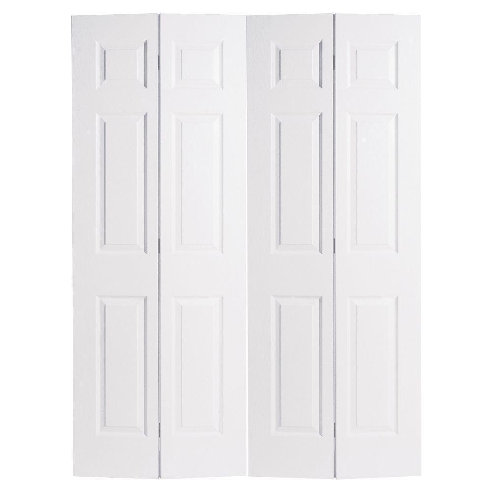 Masonite 60 In X 80 In 6 Panel Primed White Hollow Core: Masonite 72 In. X 80 In. 6-Panel Primed White Hollow-Core