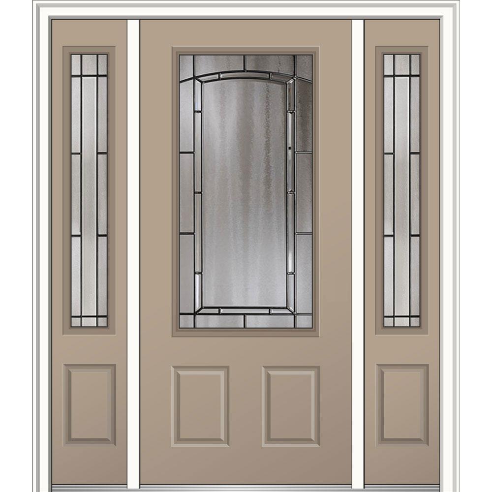 Mmi door 60 in x 80 in solstice glass left hand 3 4 lite for 12 x 60 window