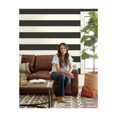 Canvas Stripe Paper Strippable Wallpaper (Covers 60.75 sq. ft.)