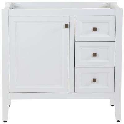 Darcy 36 in. W x 22 in. D Bath Vanity Cabinet Only in White
