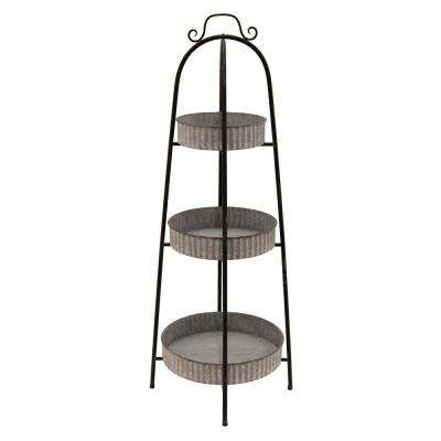 42.5 in. Metal Floor Rack