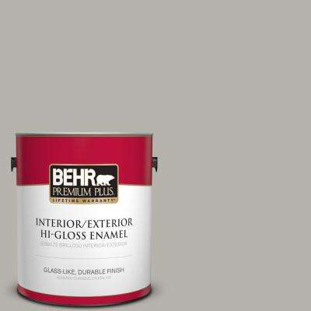 1 gal. #PPU24-11 Greige Hi-Gloss Enamel Interior/Exterior Paint