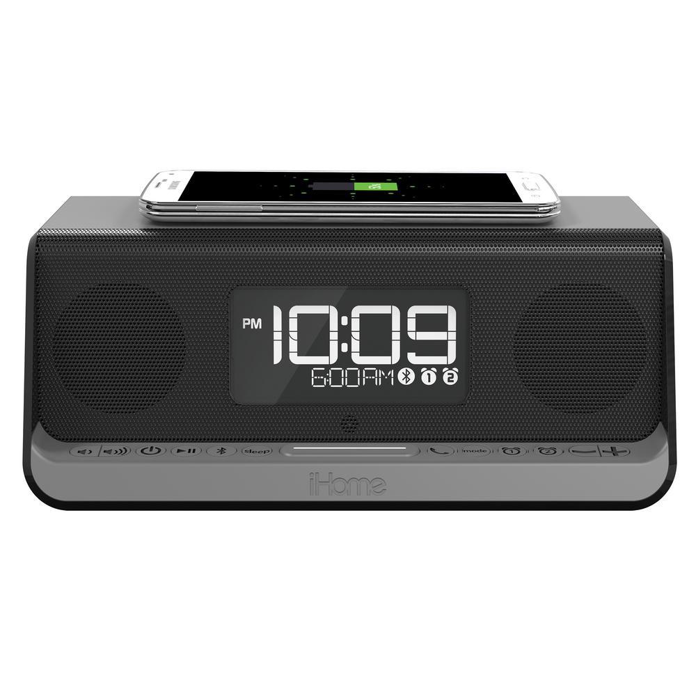 8242fc5aa57 iHome NFC Bluetooth Stereo Dual Alarm Clock with Speakerphone ...