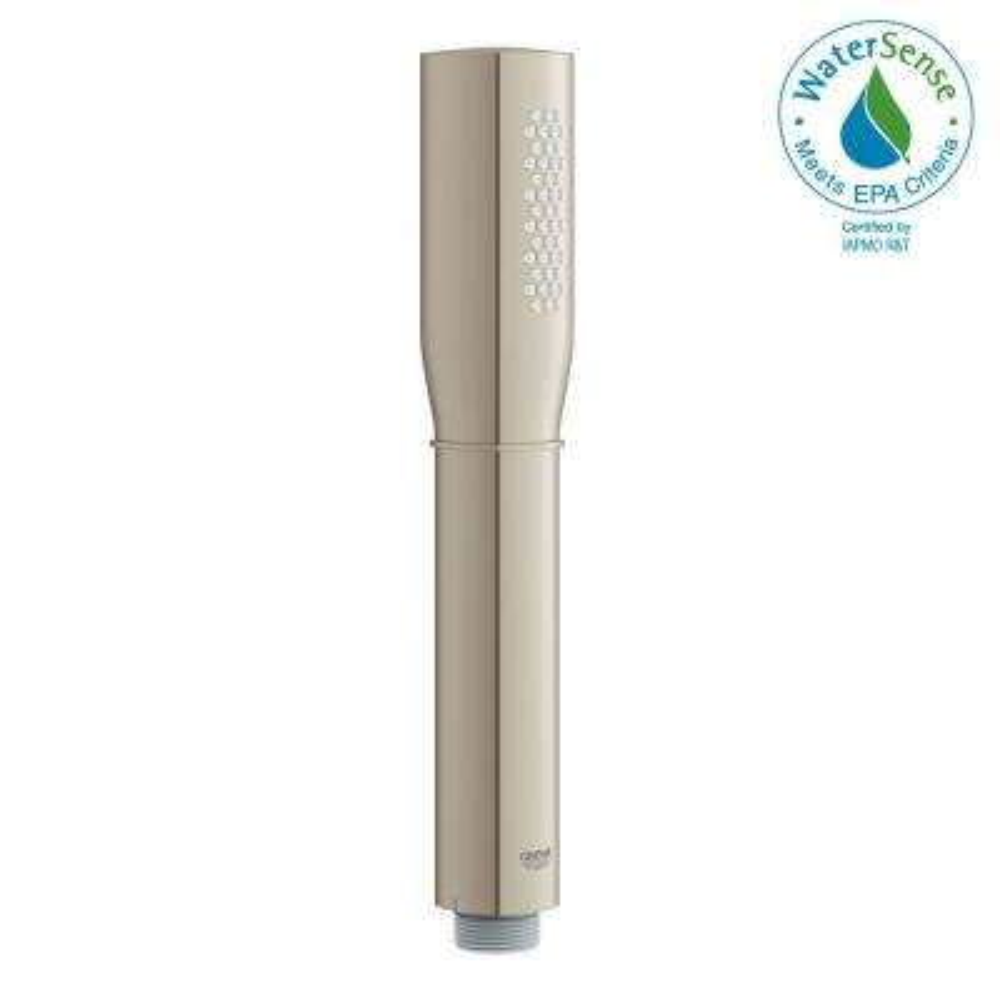 Grandera Stick 1-Spray Handheld Shower in Brushed Nickel Infinity Finish