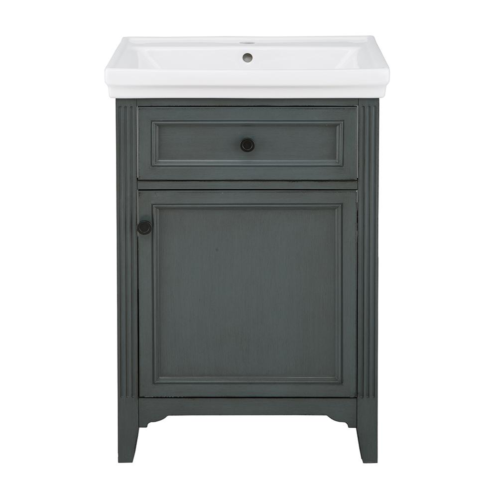 Castleford 24 in. W x 20 in. D Vanity in Charcoal