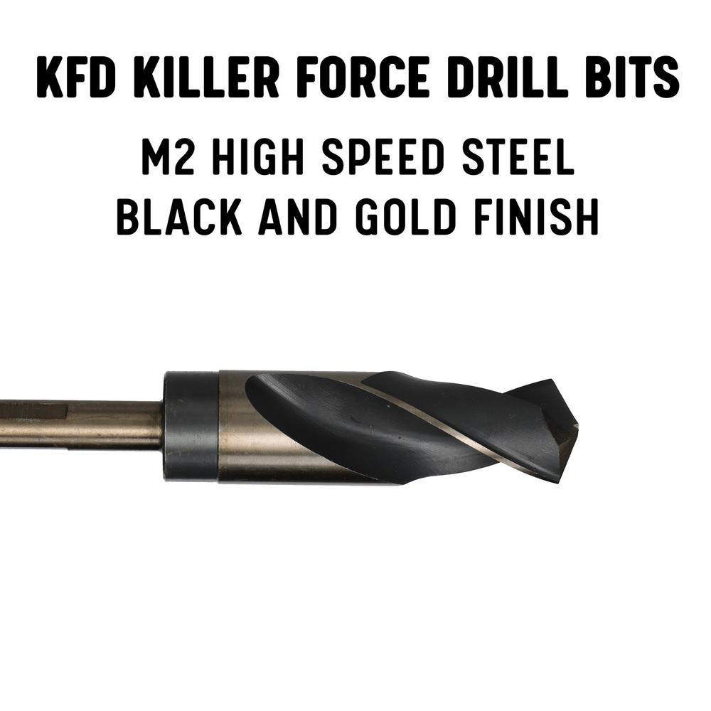 High Speed Steel Drillco Drill Bit Bright /& Black 1//2 Shank S/&D Drills 118/° Point 37//64 2 Pack