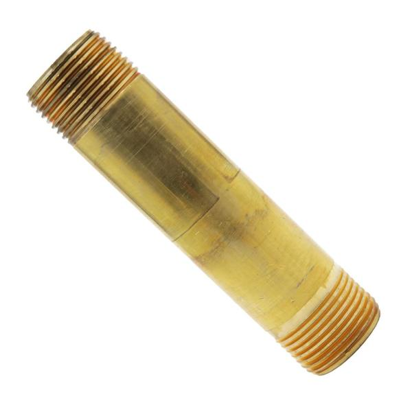 3/4 in. x 4 in. MIP Brass Nipple Fitting