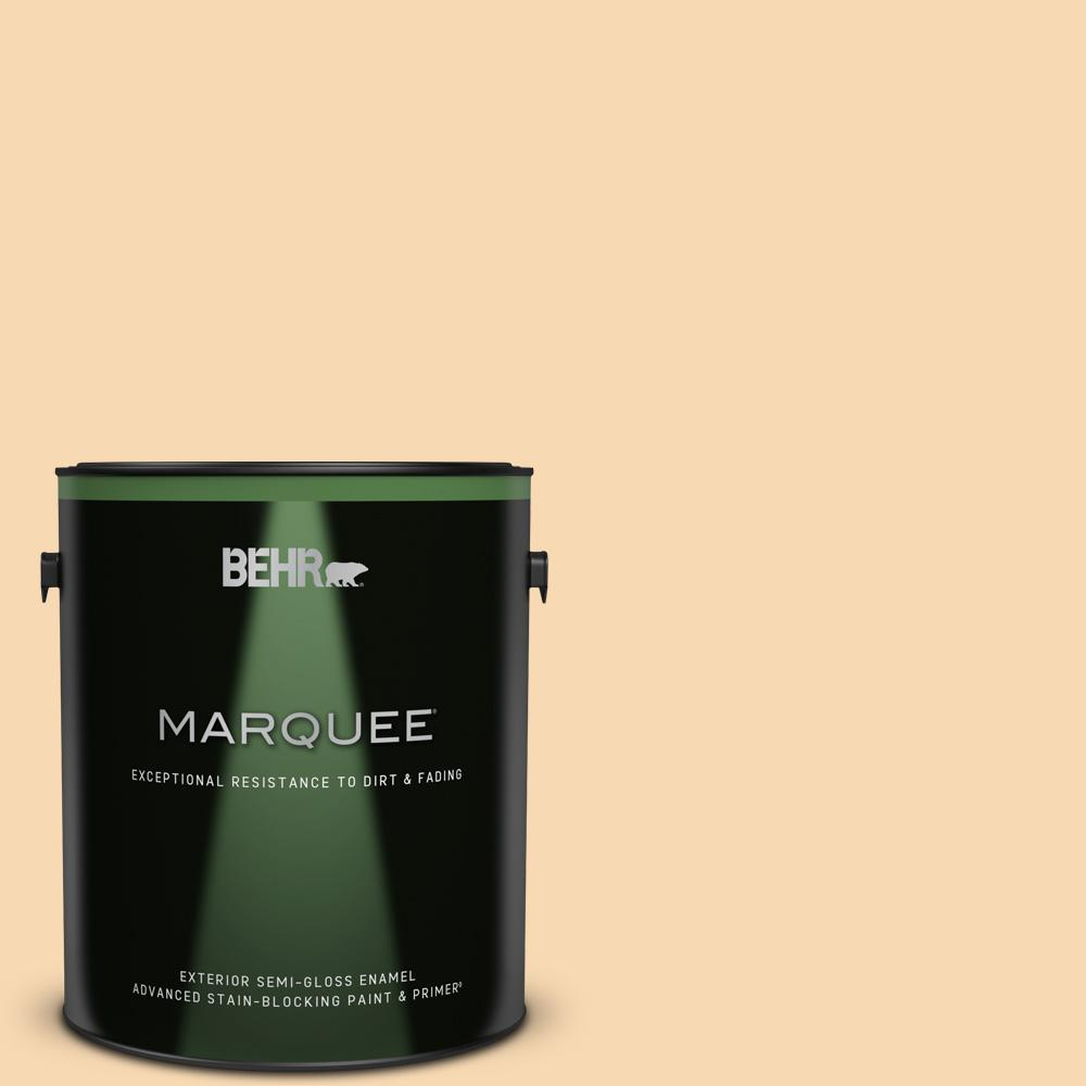 Behr Marquee 1 Gal Icc 41 Butter Cookie Semi Gloss Enamel Exterior Paint