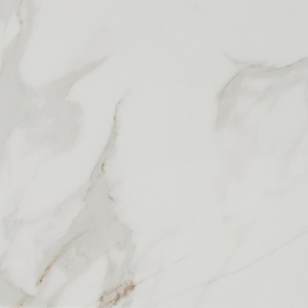 MSI Carrara 24 in. x 24 in. Polished Porcelain Floor and Wall Tile (28 cases / 448 sq. ft. / pallet)