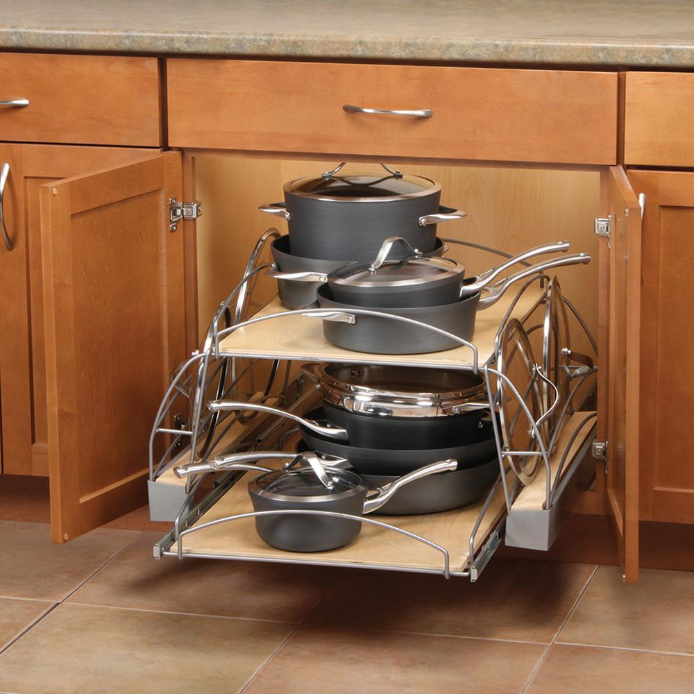 kitchen pot organizer knape amp vogt 14 25 in x 25 5 in x 22 25 in pot and pan 2461