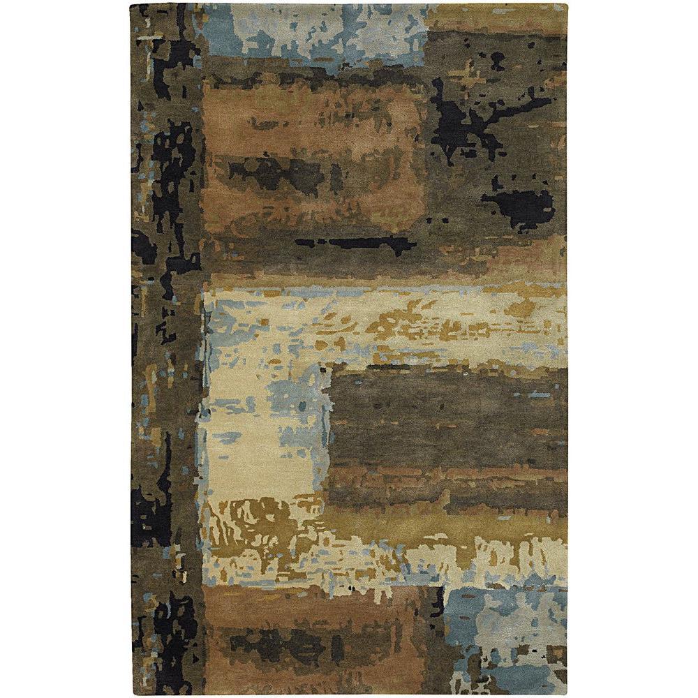 Chandra Nirvana Blue Beige Brown Green Black 8 Ft X 11 Ft Indoor