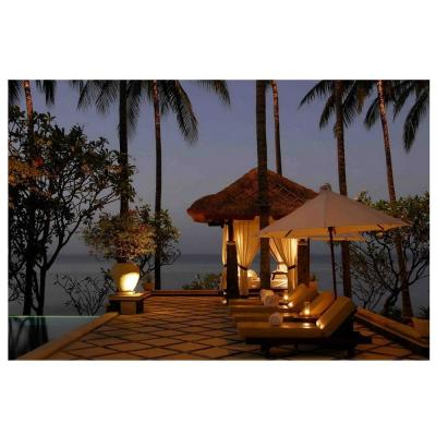 """LED Lighted Tiki Hut Relaxation Scene Canvas Wall Art 15.75"""" x 23.75"""""""