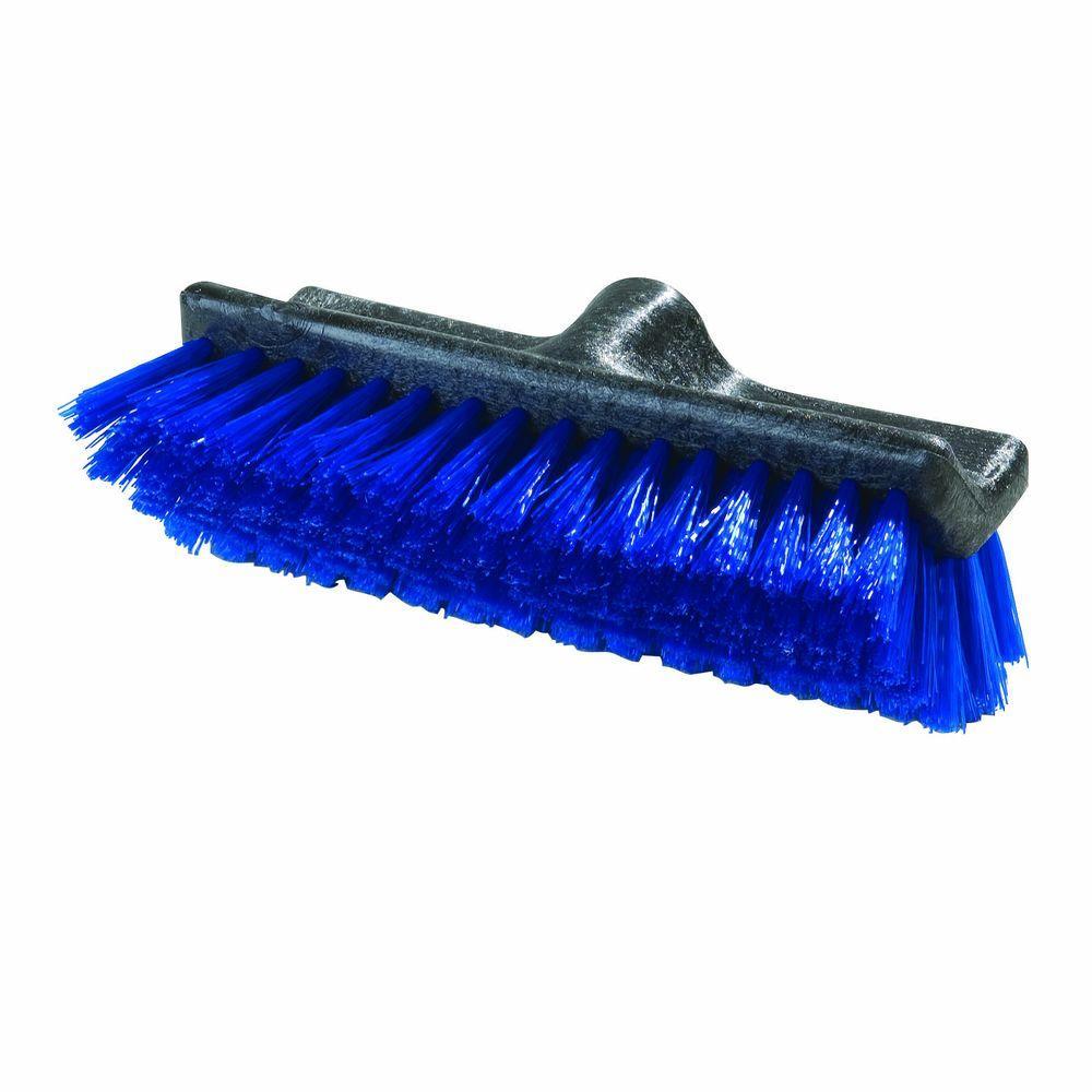 10 in. Polypropylene Blue Dual Surface Scrub Brush (12-Pack)